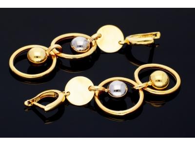 Cercei aur 14K bijuterii dama cu bilute