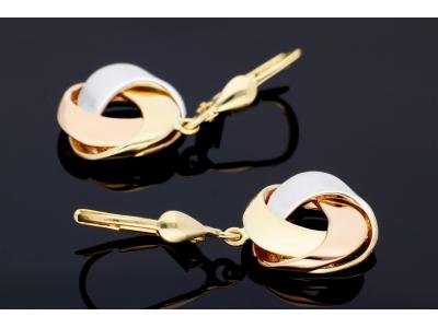Cercei aur 14k bijuterii dama cu pandant