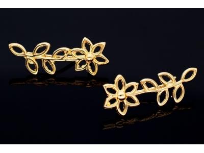Cercei aur 14k bijuterii dama floricele