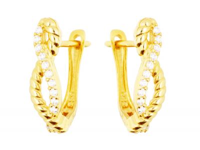Cercei aur 14k bijuterii dama infinit