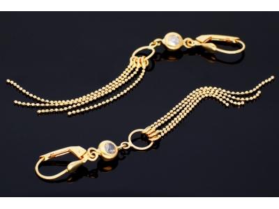Cercei aur 14k bijuterii dama lantisoare