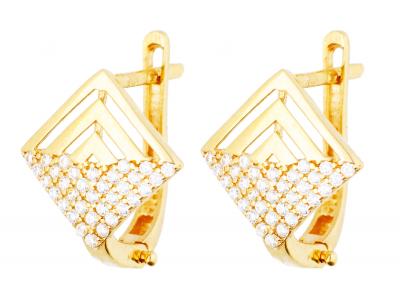 Cercei aur 14k bijuterii dama model geometric