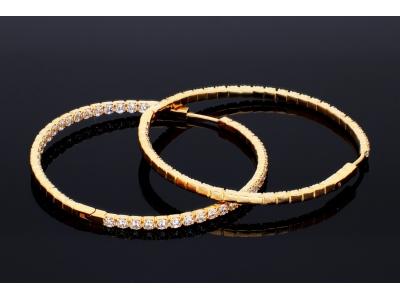 Cercei aur 14K bijuterii dama tip creole