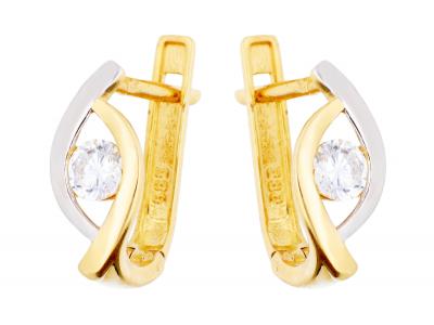 Cercei aur 14K bijuterii dama zirconia