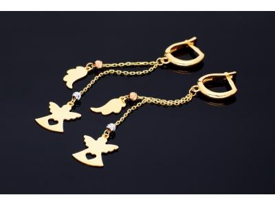 Cercei aur 14K bijuterii ingeras