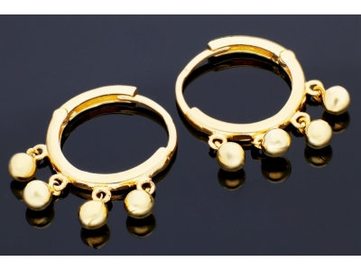 Cercei aur 14K bilute