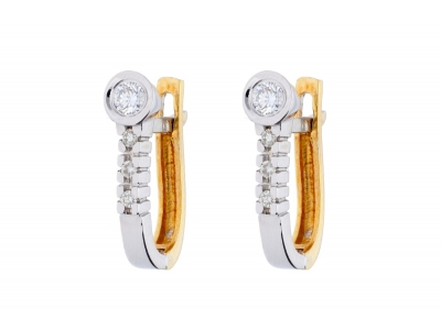 Cercei aur 14k cu diamante bijuterii dama