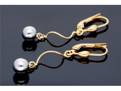 Cercei aur 14K cu pandant bijuterii dama