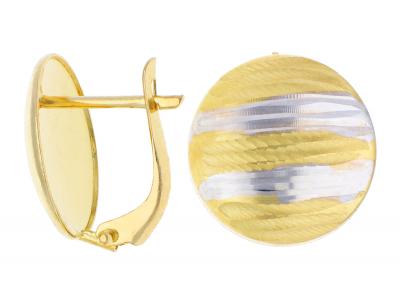 Cercei aur 14K galben si alb bijuterii