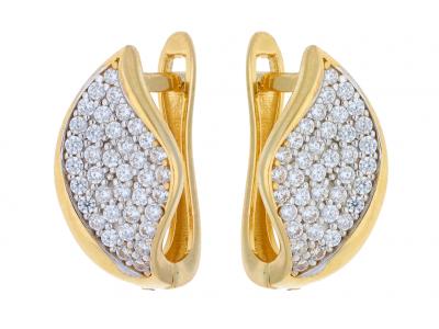 Cercei aur 14K galben si alb bijuterii online