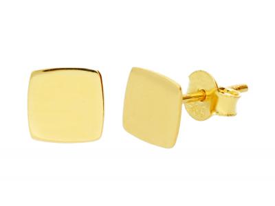 Cercei aur 14k model geometric