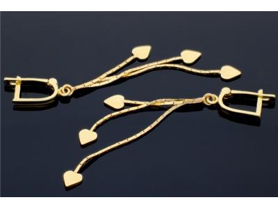 Cercei aur cu pandante inimioare  cadouri femei