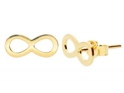 Cercei aur dama bijuterii 14K infinit