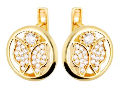 Cercei aur fluturasi bijuterii femei