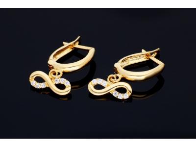 Cercei aur pandant infinit bijuterii online
