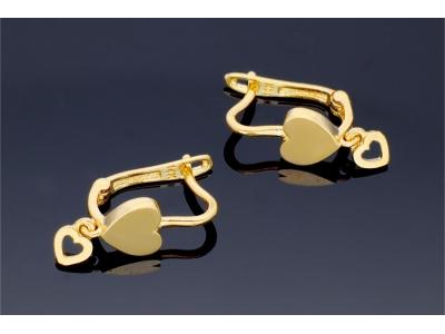 Cercei copii aur 14k model inimioare