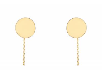 Cercei cu lant aur 14K banut