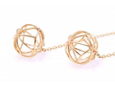Cercei cu lant bijuterii aur online