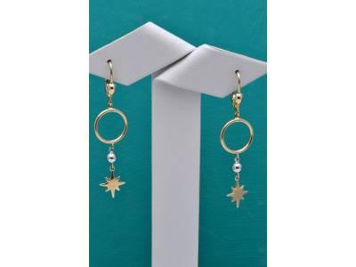Cercei cu pandant aur 14K bijuterii dama