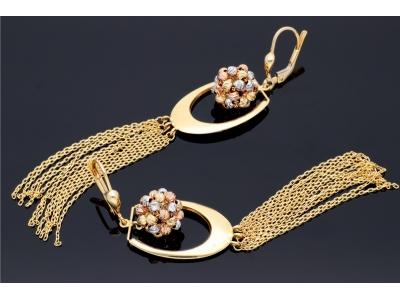 Set bijuterii femei lant cu pandantiv si cercei bilute