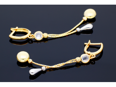 Cercei cu pandant aur 14K bijuterii deosebite
