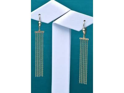 Cercei cu pandant aur 14k cadou bijuterii