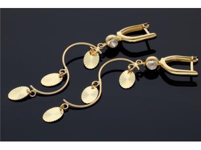 Cercei cu pandantiv aur 14K bijuterii dama