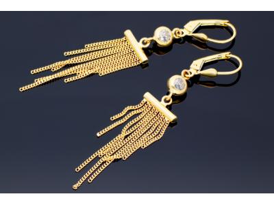 Cercei cu pandantiv aur 14K cadouri dama