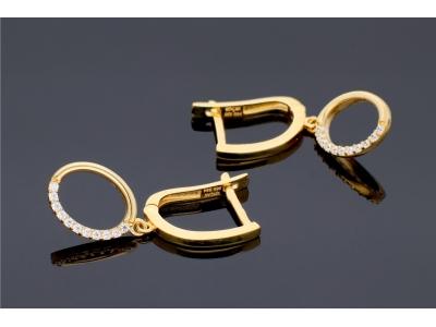 Cercei cu pandantiv aur 14K