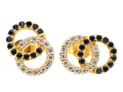 Cercei cu surub din aur 14K  bijuterii dama
