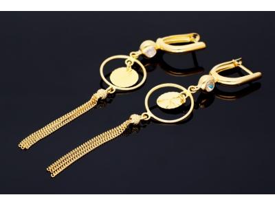 Cercei dama aur 14k model geometric