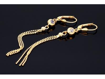 Cercei dama bijuterii aur 14k lantisoare