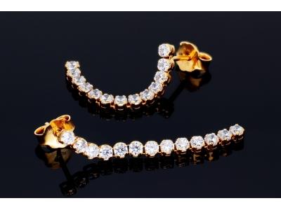 Cercei dama bijuterii aur 14k tip tenis