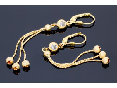 Cercei lungi aur 14k bijuterii cadou