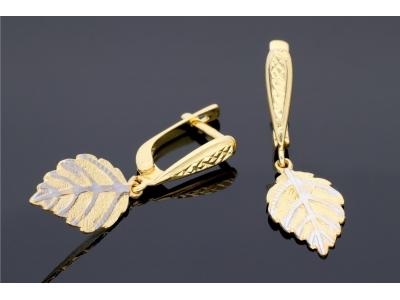 Cercei pandant frunza cadouri bijuterii aur