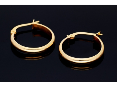 Cercei rotunzi din aur 14K