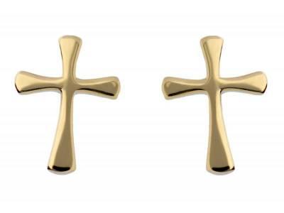 Cercei surub aur 14K cruciulite