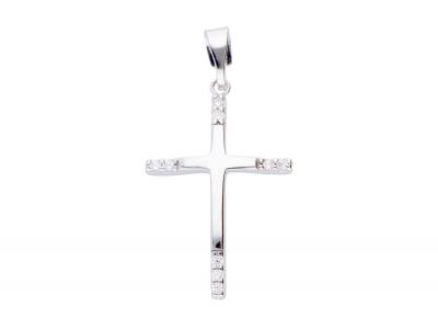 Cruciulita aur alb 14k cadouri bijuterii on line