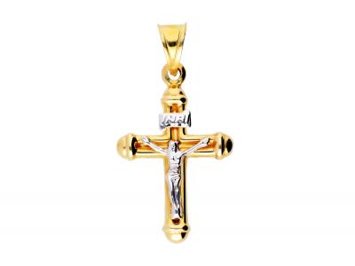 Cruciulita Iisus din aur 14K bijuterii