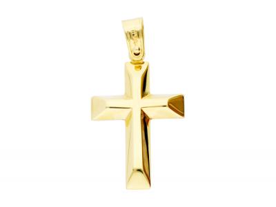 Cruciulita pandantiv 2 fete aur 14k bijuterii cadou