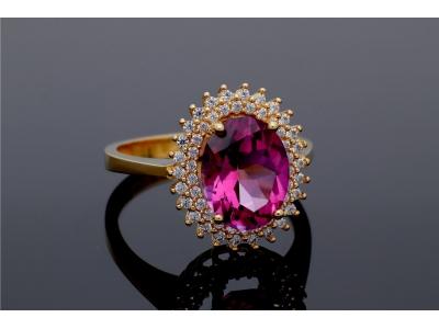 Inel anturaj aur 14k bijuterii dama