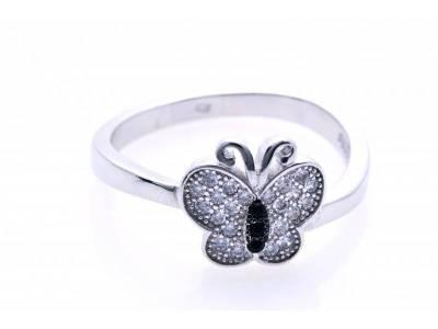 Inel argint 925 fluture