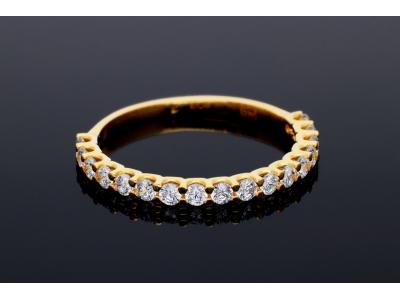 Inel aur 14K bijuterii pentru femei pietre zirconia