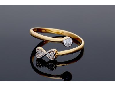 Inel aur 14k bijuterii cadou dama usor reglabil