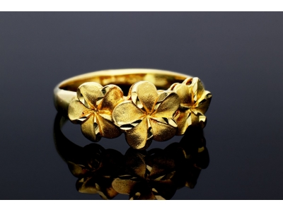 Inel aur 14K bijuterii dama model floricele