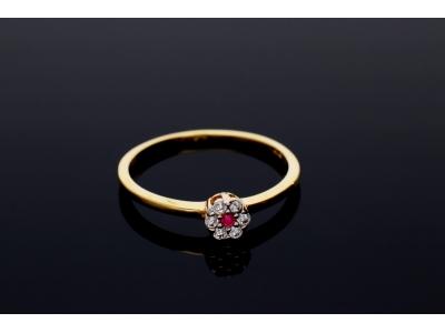 Inel aur 14K bijuterii dama zirconia siclam