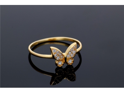 Inel aur 14k cadouri bijuterii cu fluturas