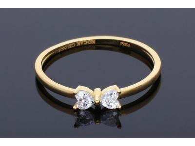 Inel aur 14k cadouri bijuterii cu zirconii