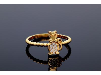 Inel aur 14K cadouri bijuterii pisicuta