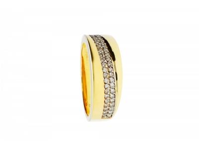 Inel aur 14K cu diamante